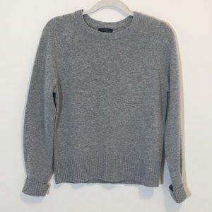 J. Crew Gray 100% Wool Crewneck Sweater Medium